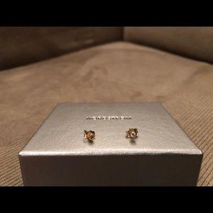 18k gold diamond studs